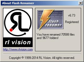 Flash Renamer About Window