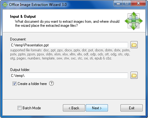 Click to view Office Image Extraction Wizard 2.0 screenshot